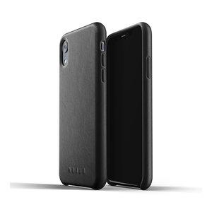 Mujjo Leren Hoesje iPhone Xr - Zwart
