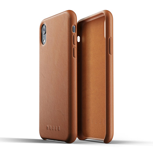 Mujjo Leather Case iPhone Xr - Brown