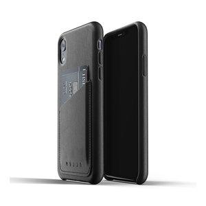 Mujjo Leren Wallet iPhone Xr - Zwart