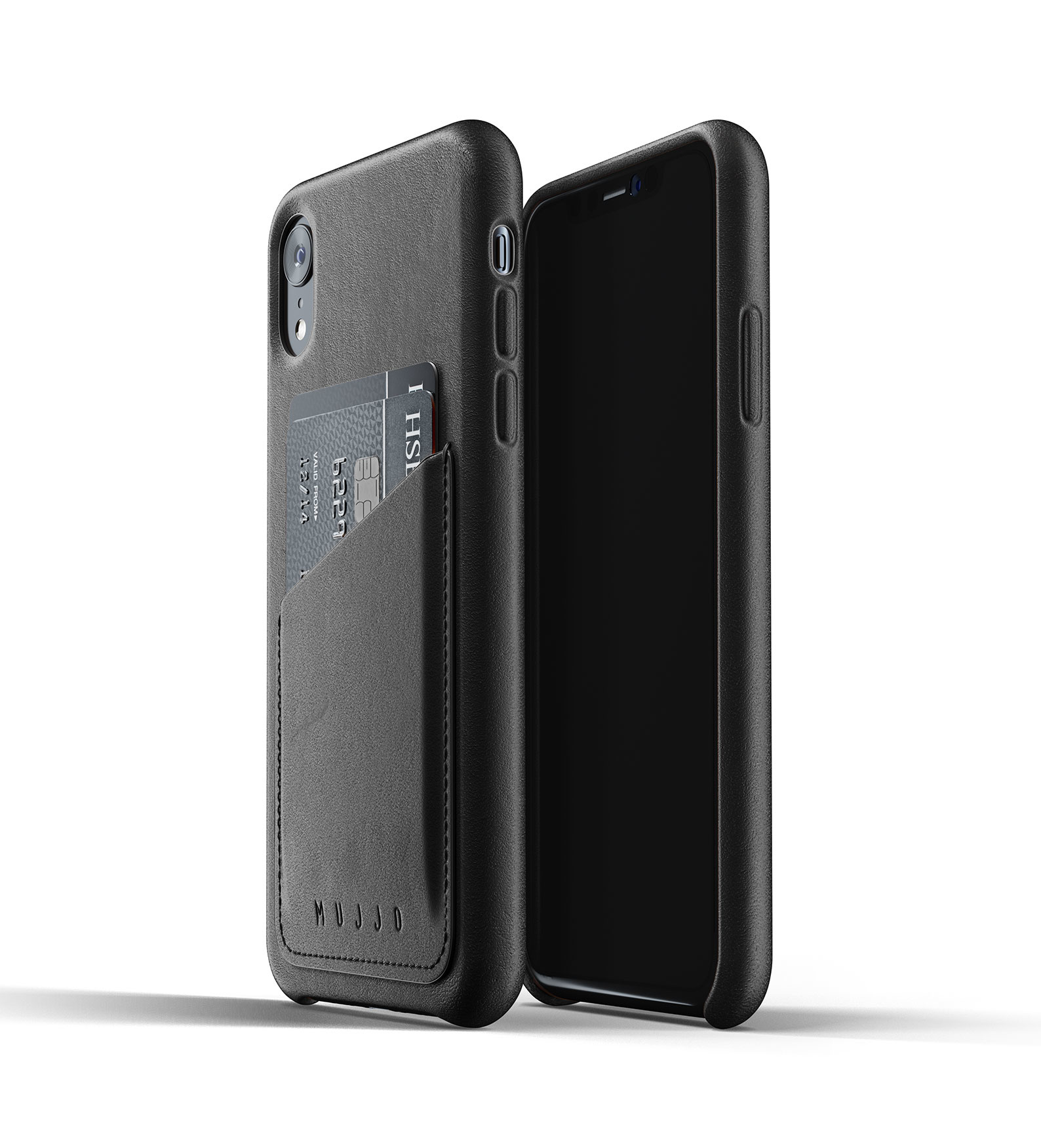 Leather Wallet iPhone Xr - Black
