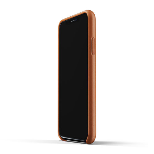 Mujjo Leather Wallet for iPhone Xr - Brown