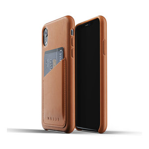 Mujjo Leather Wallet iPhone Xr - Brown