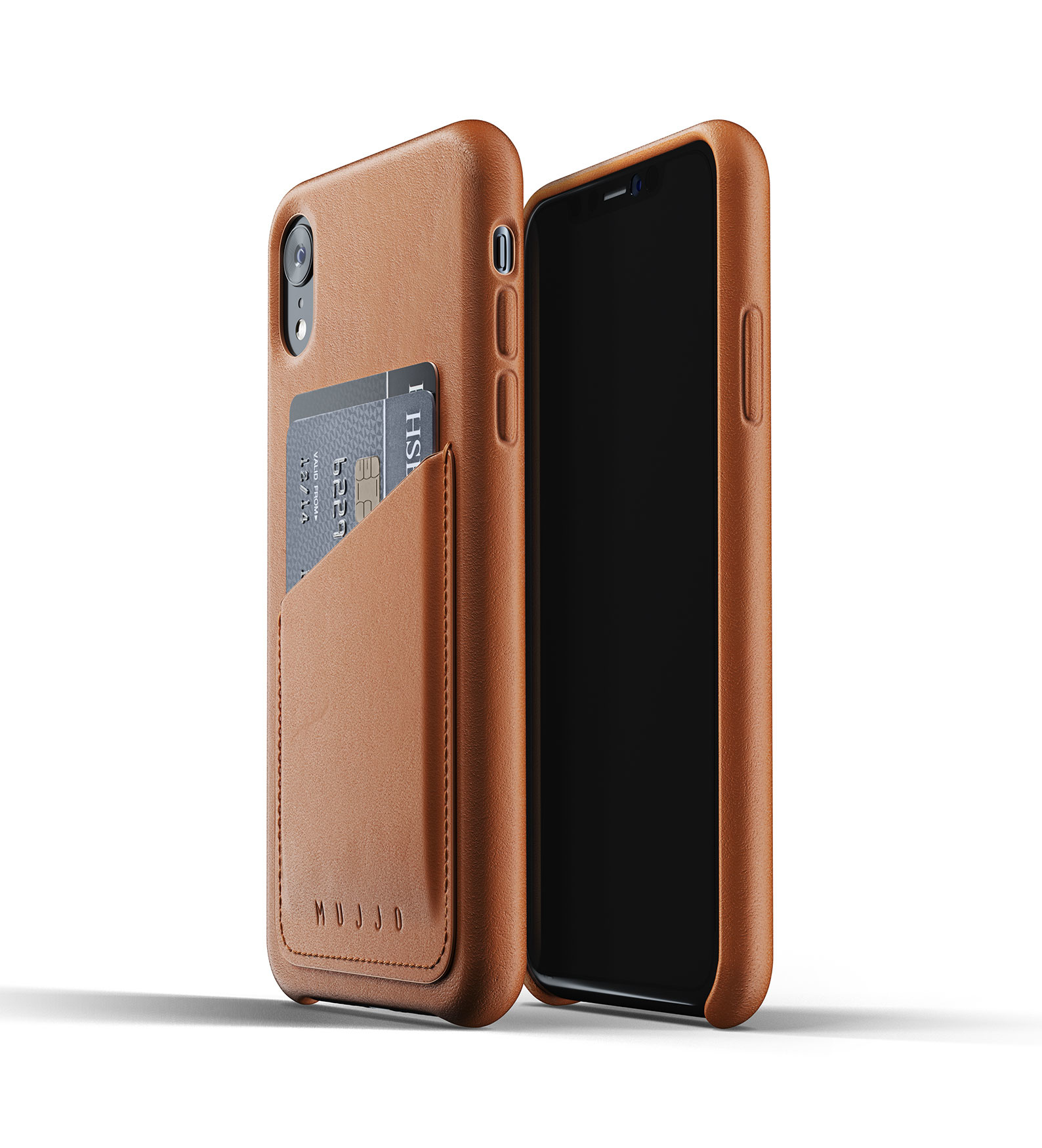 Leather Wallet for iPhone Xr - Brown