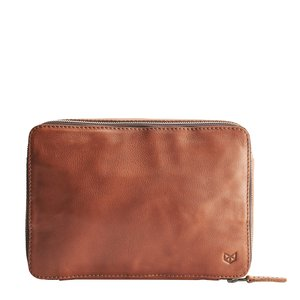 Capra Leather Gadget Organizer - Tan