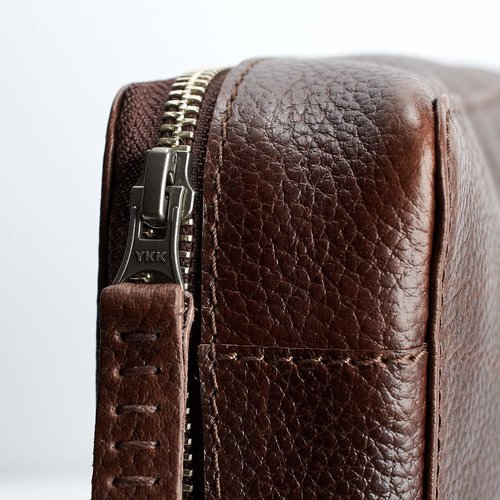 Capra Leather Gadget Organizer - Dark Brown