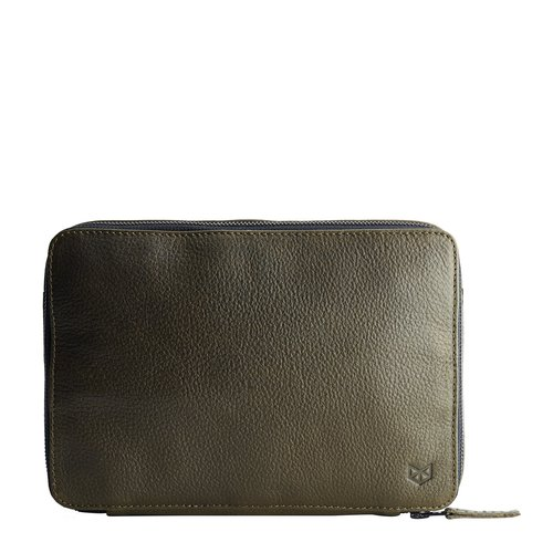 Capra Leather Gadget Organizer - Military Green
