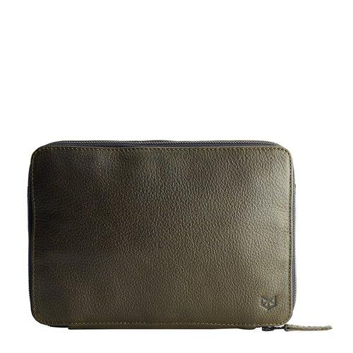 Capra Leather Gadget Organizer - Military Green
