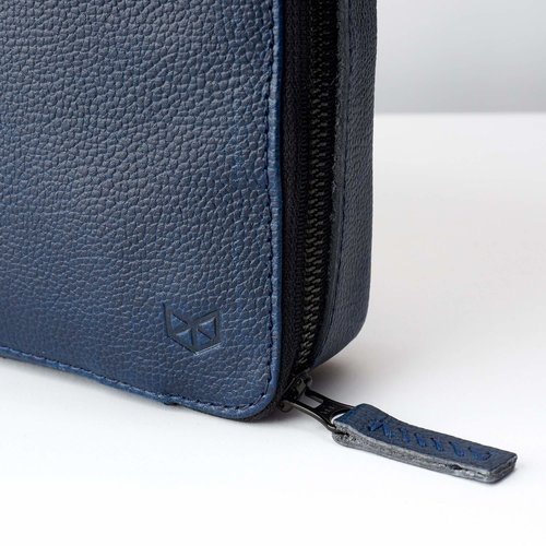 Capra Leather Gadget Organizer - Ocean Blue