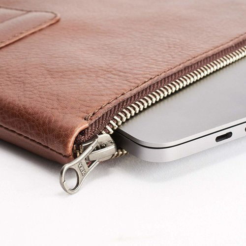 "Capra Leather 13"" Biker Laptop Portfolio - Tobacco"