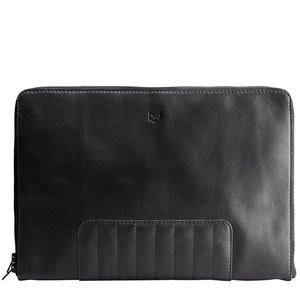 "Capra Leather 13"" Biker Laptop Portfolio - Black"