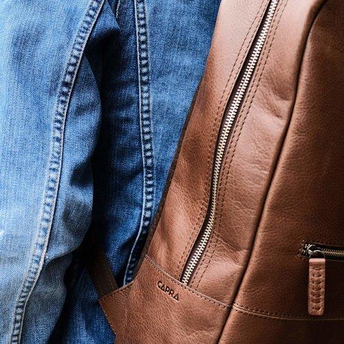 Capra Leather Bisonte - Tobacco