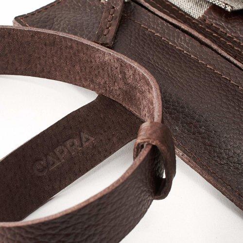 Capra Leather Horloge Etui - Dark Brown