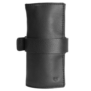 Capra Leather Horloge Etui - Black