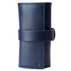 Capra Leather Horloge Etui - Ocean Blue