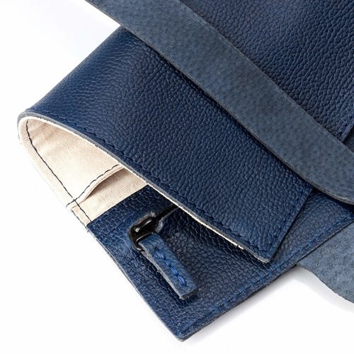 Capra Leather Horloge Etui - Ocean Blue
