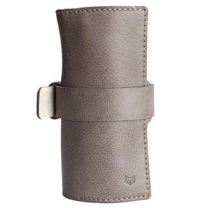 Capra Leather Watch Roll - Grey