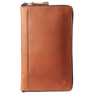 Capra Leather Passport Holder - Tan