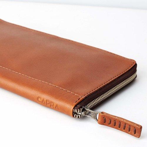 Capra Leather Paspoort Etui - Tan