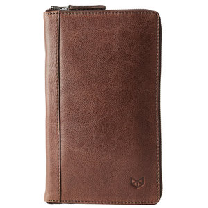 Capra Leather Passport Holder - Tobacco