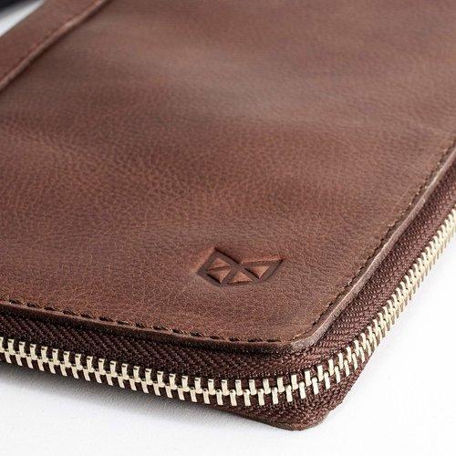 Capra Leather Paspoort Etui - Tobacco