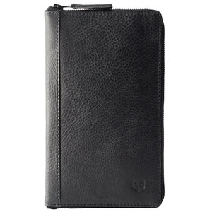 Capra Leather Passport Holder - Black