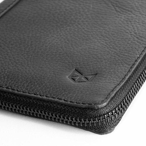 Capra Leather Passport Holder - Black