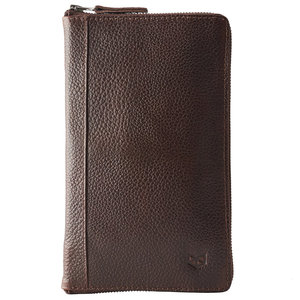 Capra Leather Passport Holder - Dark Brown