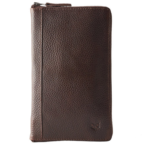Capra Leather Paspoort Etui - Dark Brown