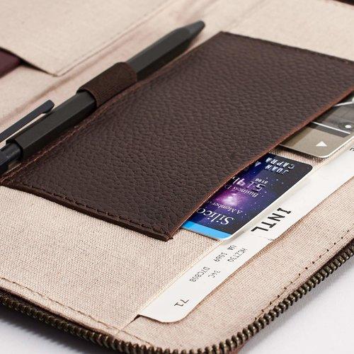 Capra Leather Passport Holder - Dark Brown