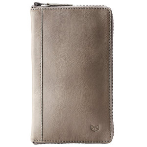 Capra Leather Passport Holder - Grey