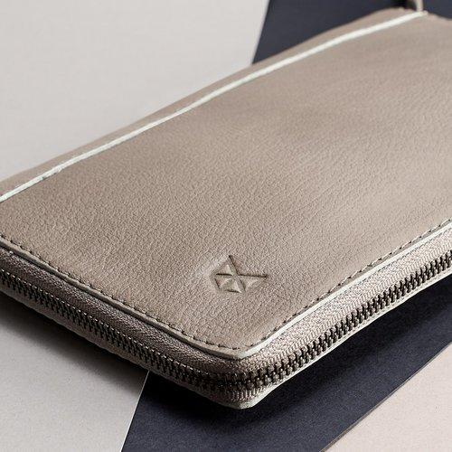 Capra Leather Paspoort Etui - Grey