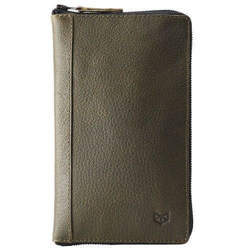 Capra Leather Paspoort Etui - Military Green