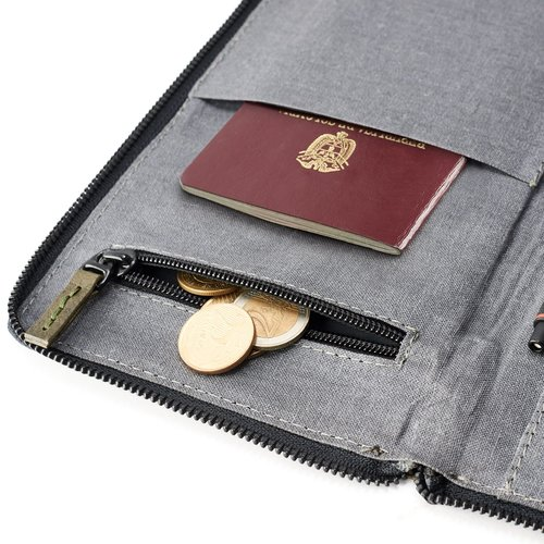 Capra Leather Passport Holder - Military Green