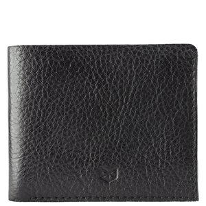 Capra Leather Slim Wallet Set - Black