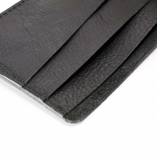 Capra Leather Slim Wallet Set - Black