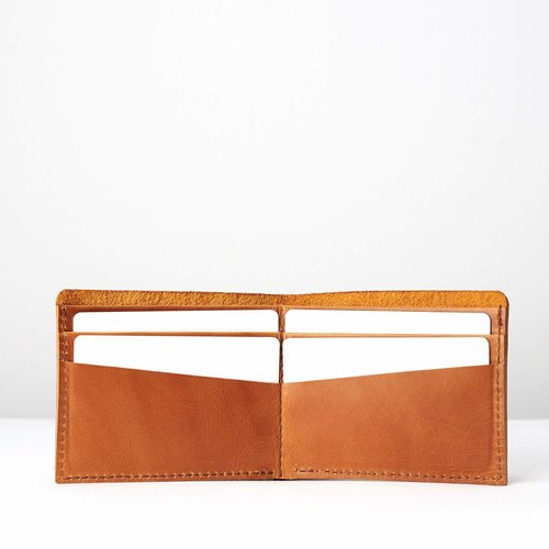 Capra Leather Slim Wallet Set - Avana