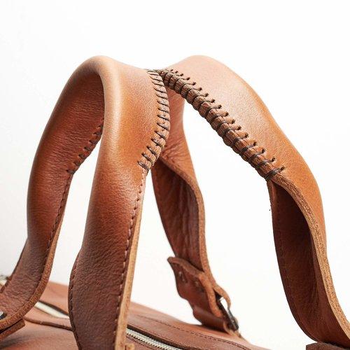 Capra Leather Duffel - Tan