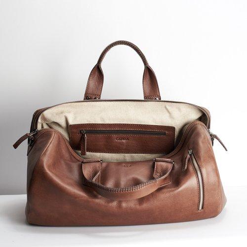 Capra Leather Duffel - Tobacco