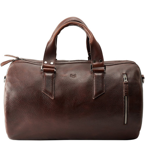 Capra Leather Duffel - Dark Brown