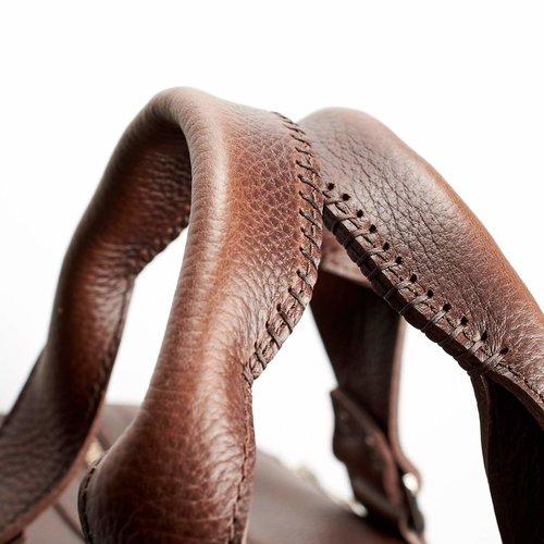 Capra Leather Duffel - Dark Brown
