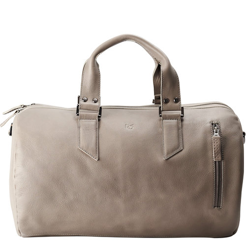 Capra Leather Duffel - Grey