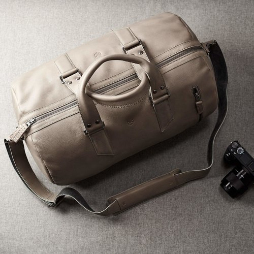 Capra Leather Duffel - Grey