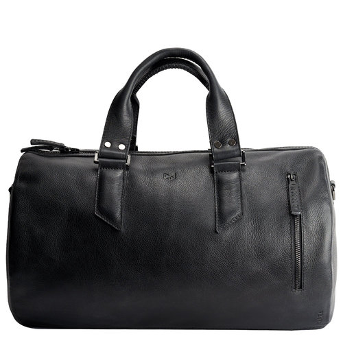 Capra Leather Duffel - Black