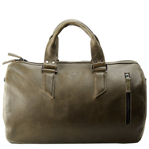 Capra Leather Duffel - Military Green