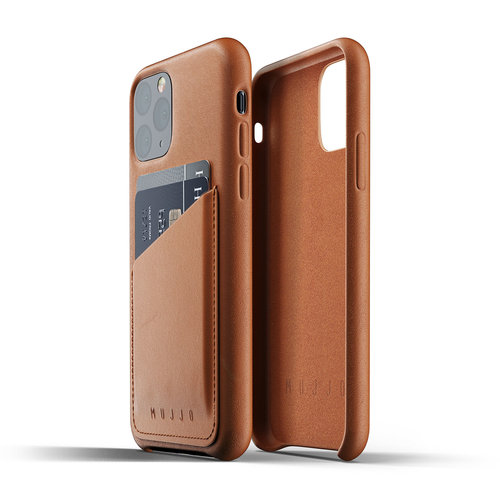 Mujjo Leather Wallet iPhone 11 Pro - Brown