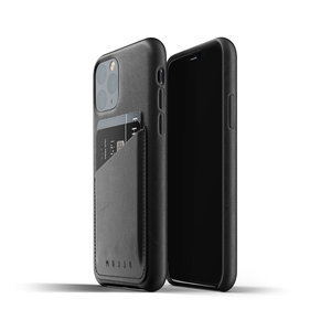 Mujjo Leather Wallet iPhone 11 Pro - Black