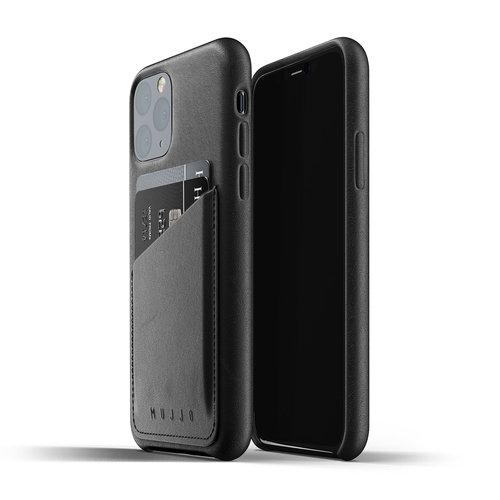 Mujjo Leren Wallet iPhone 11 Pro - Zwart