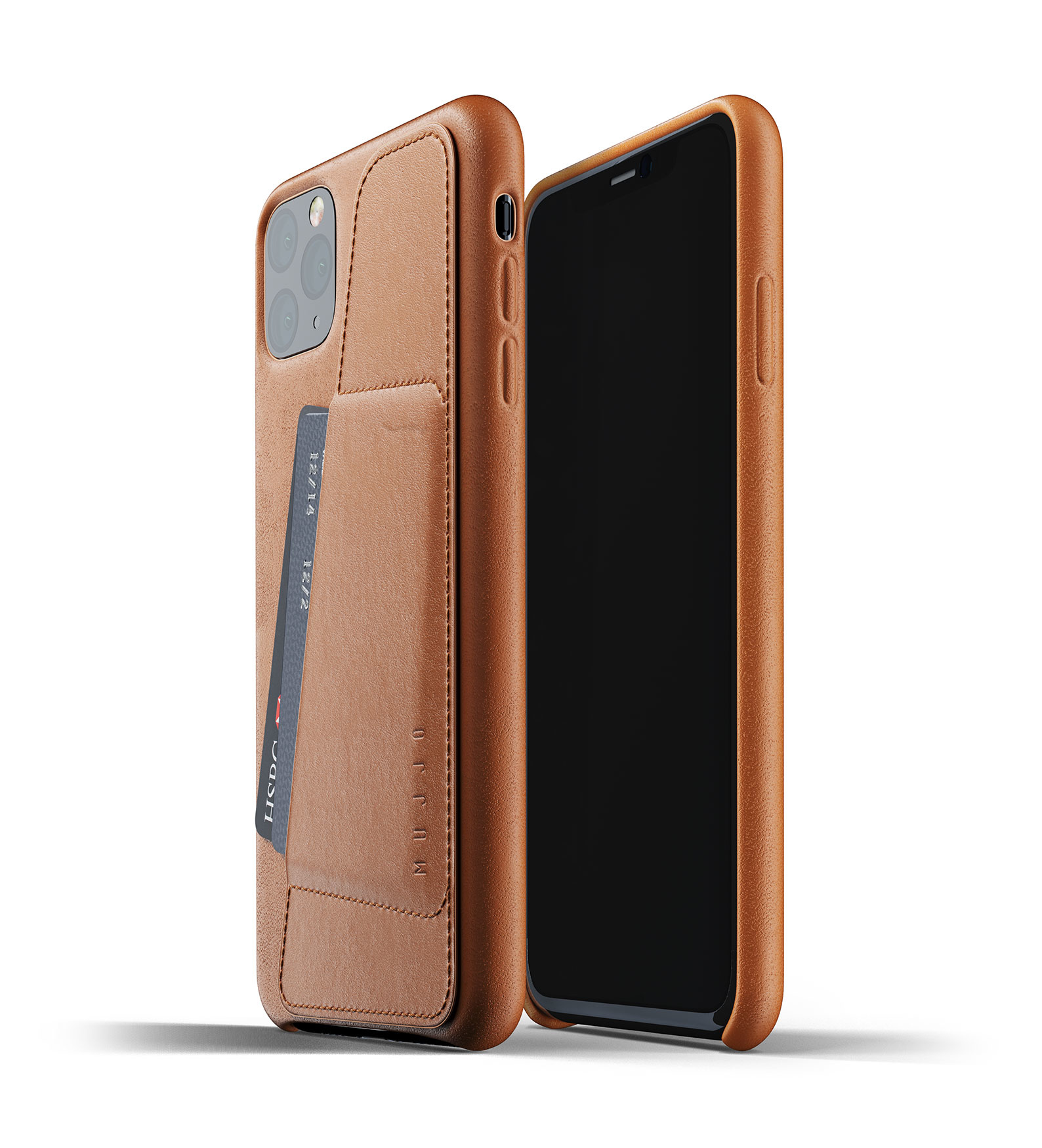 Leather Wallet iPhone 11 Max - Brown