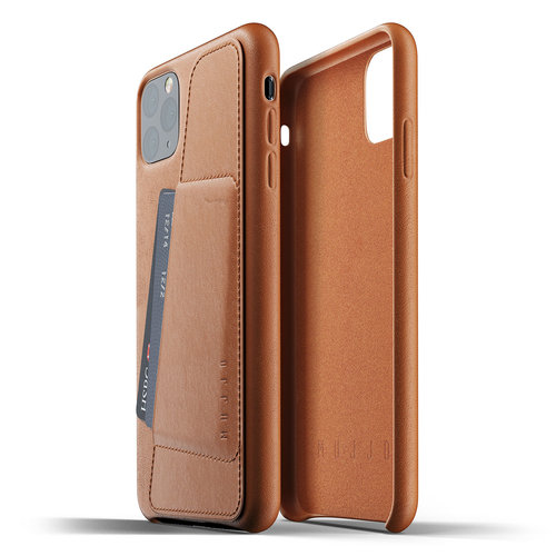 Mujjo Leather Wallet iPhone 11 Max - Brown