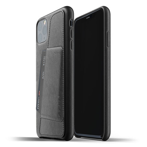 Mujjo Leather Wallet iPhone 11 Max - Black